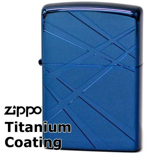 ZIPPO TIC-B チタンコーティングシリーズジッポー ブルー&ブルーライン 【再入荷】