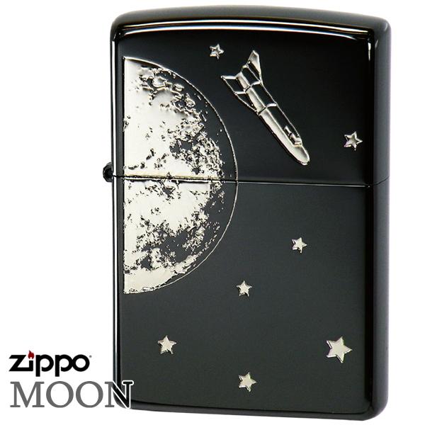ZIPPO ジッポー 2BN-MOON 月とシャトル ブラックニッケル 渋い かっこいい ジッポーライター Zippo Lighter ギフト プレゼント メンズ