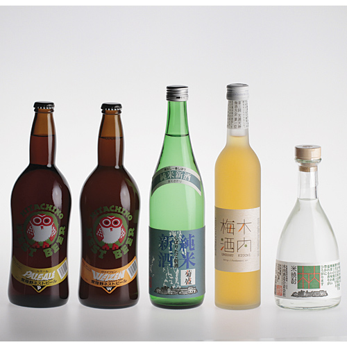 Fresh sake & hitachino & shochu kiuchi 25 & plum tree 5 obsessions set-50