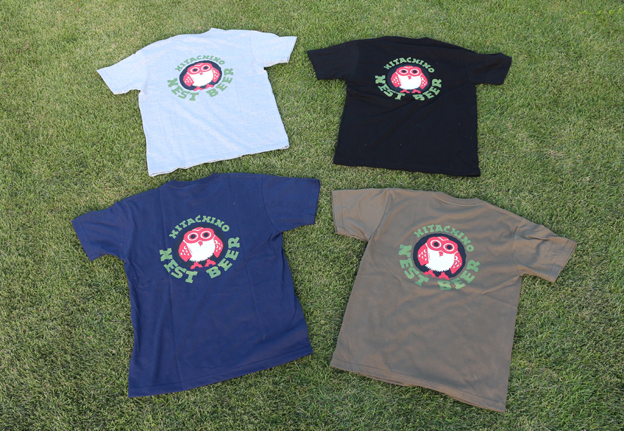 Hitachino Nest Beer Original Logo Back Printed T-Shirts & Kiuchi Brewery Japanese Towel Set