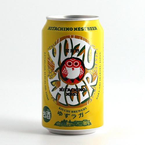 【常陸野ネストビール】ゆずラガー 350ml 缶【フルーツビール】【クラフトビール】