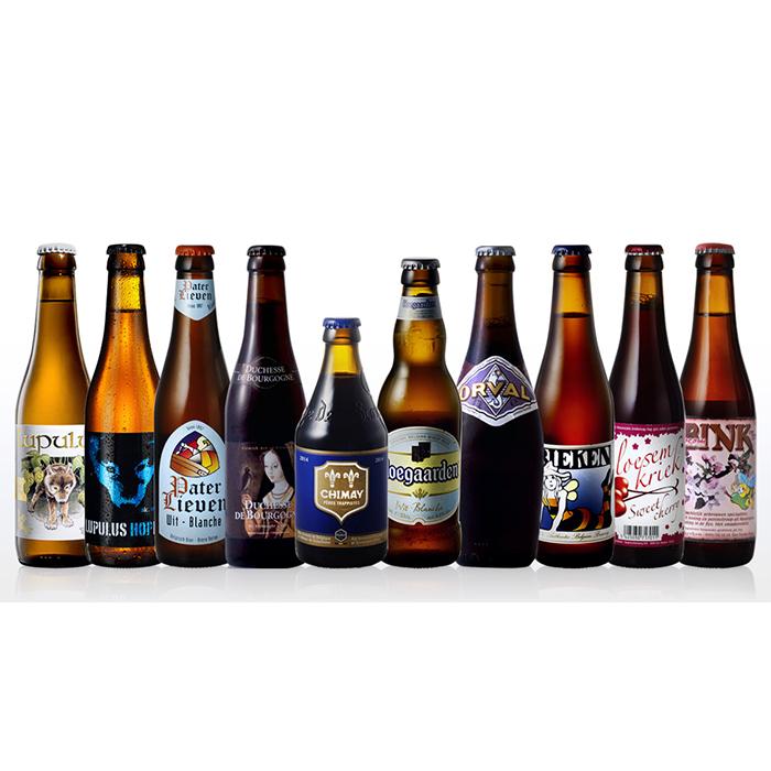 当店で2020年に売上10位までに入った人気ベルギービールの詰め合わせセット 贈答用にも ヒューガルデン 本日の目玉 超激安 オルヴァルも クラフト 贈答 ビール 送料無料 2020年間売上トップ10セット