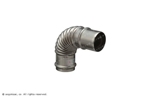 FF暖房機の排気延長に 専門店 φ39×φ40排気筒 90°エルボ メーカー直送