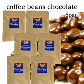 送料無料 割り引き クール便で送料無料 自家焙煎のコーヒー屋が作る本気の コーヒービーンズチョコレート 情熱セール 賞味期限 2022.05.01 コーヒー豆チョコ 200グラム×6袋