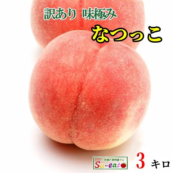 8月中旬発送 なつっこ 訳あり  桃  減農薬 長野県産 3キロ レビューを書いたら200円クーポン