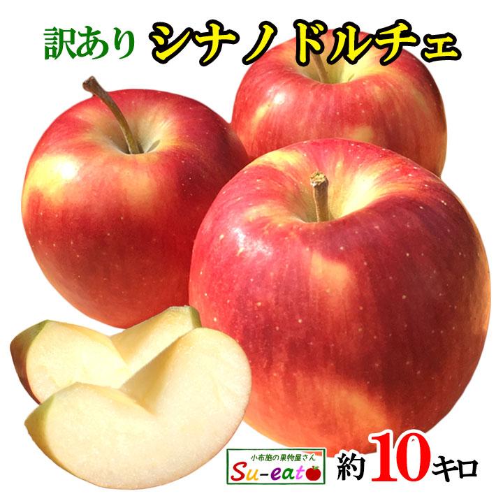 シャキシャキ美味しい信州リンゴが訳ありでお買い得 あす楽 シナノドルチェ 訳あり りんご 時間指定不可 レビューを書いたら200円クーポン 卓抜 10キロ 減農薬