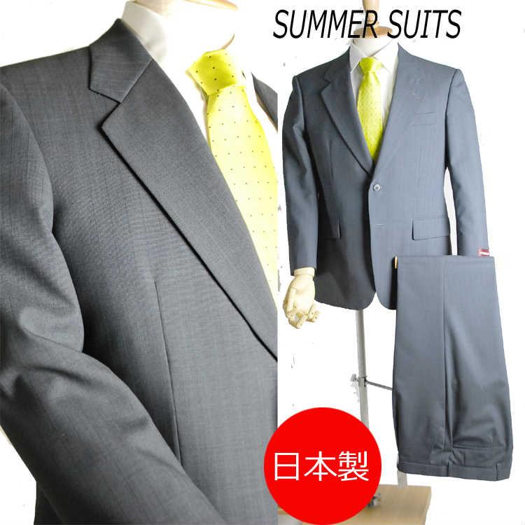 *夏用*ビジネススーツ RM322111AB体3:シングル2B×1掛け★パンツ裾未処理