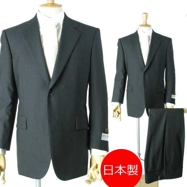 日本製 *合物*ビジネススーツAB4:2B×1 R759★パンツ裾未処理