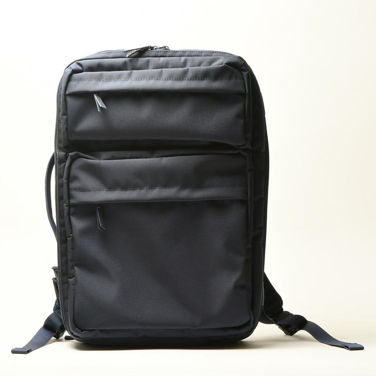 ポリエテル素材のブリーフバッグ、ショルダーバッグ、リュックサックと3通できるバッグ R485