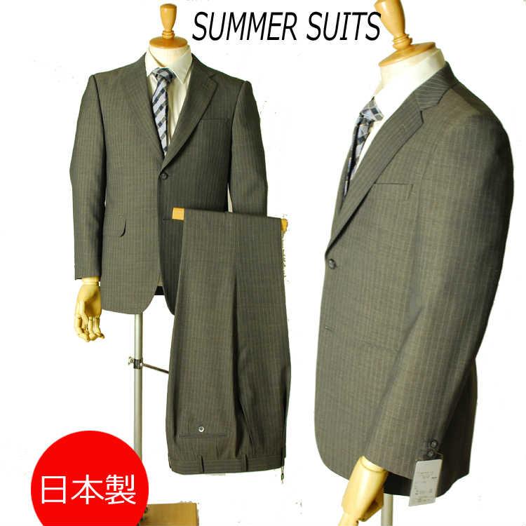 日本製*春夏用*A5&AB4サイズのみビジネススーツ:2B×1:RM176★パンツ裾未処理