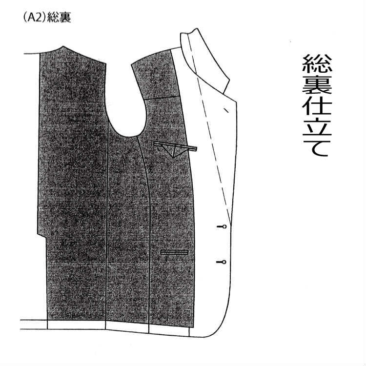 有料オプション:裏仕立ては総裏指定 スーパーセール A2 半額 当店でオーダースーツを作られた方のみのオプション