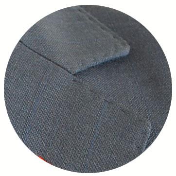 有料オプション:ジャケットのステッチ指定(ジャケットのみハンドコバ&ミシン)17カラ—から糸色指定も可能です。当店でオーダースーツを作られた方のみのオプション