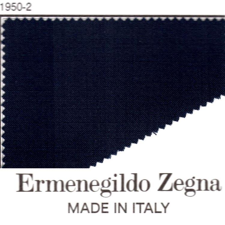【A】:お好みの素材 春夏用パターンオーダー ・エルメネジルド・ゼニア生地を使って縫製したスーツ(Ermenegildo Zegna) :POS16-1950-2(ミッドナイトブルー色)のS上下出来上がり価格