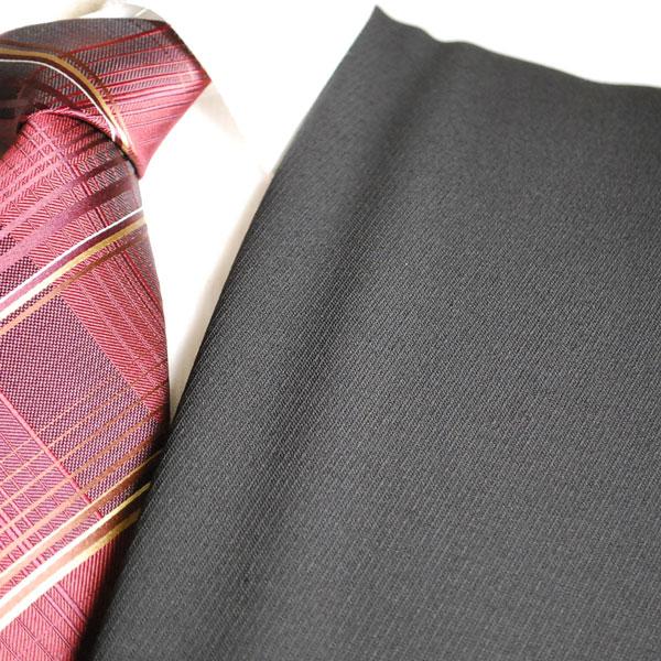 【A】:お好みの素材:ビッグサイズ(bigsize)の方に最適:ブラックフォーマル・礼服の斜めピケストライプ柄 合物(スリーシーズン)パターンオーダースーツ :POW7400のS上下出来上がり価格