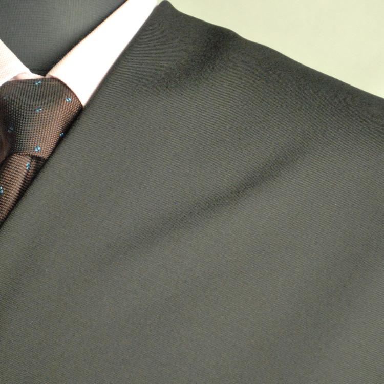 【A】:お好みの素材:POW7610ビッグサイズ(bigsize)の方に最適:限りなく黒に近い濃紺の無地柄合冬物(スリーシーズン)パターンオーダースーツのS上下出来上がり価格