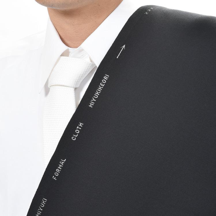 【A】:お好みの素材 MIYUKITEX生地を使って縫製したスーツ:ビッグサイズ(bigsize)の方に最適:秋冬物パターンオーダーフォーマルスーツ:POWB77500のS上下出来上がり価格