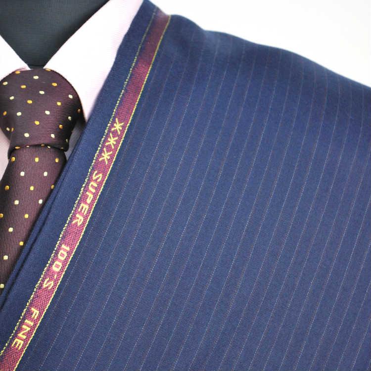 【A】:お好みの素材:POAcw2012-3ビッグサイズ(bigsize)の方に最適:super100'ライトブルー色のストライプ柄合物(スリーシーズン)パターンオーダースーツのS上下出来上がり価格