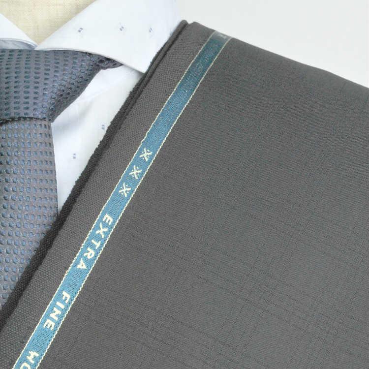 【A】:お好みの素材:POAka405-1ビッグサイズ(bigsize)の方に最適:ブラック色のチェック柄合物(スリーシーズン)パターンオーダースーツのS上下出来上がり価格