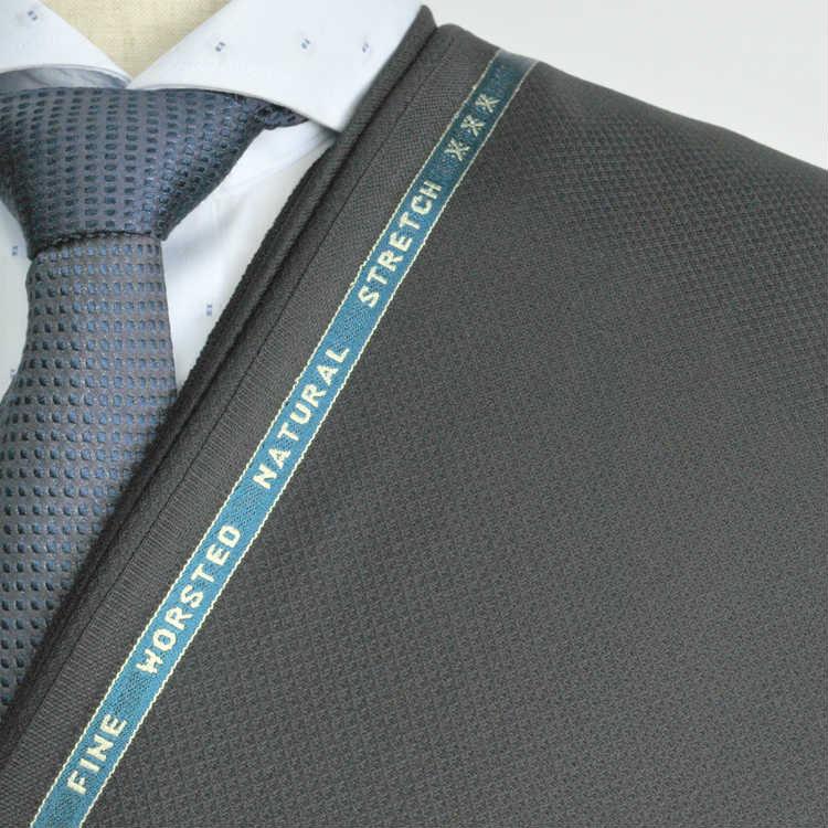 【A】:お好みの素材:POAka419-1ビッグサイズ(bigsize)の方に最適:ブラック色の斜めチェック柄合物(スリーシーズン)パターンオーダースーツのS上下出来上がり価格