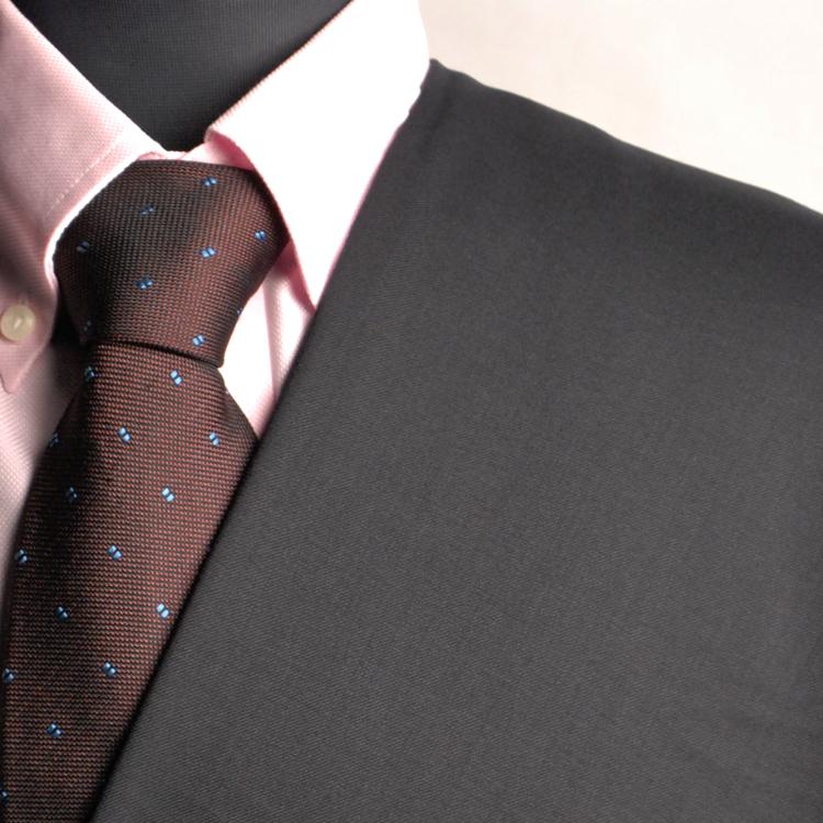 【A】:お好みの素材:POA81769-10ビッグサイズ(bigsize)の方に最適:限りなく黒に近い濃紺の無地柄合物(スリーシーズン)パターンオーダースーツのS上下出来上がり価格