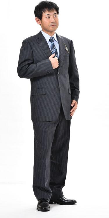 夏用 チャコールグレーのドーメルスーツ 【衿巾8cm〜8.4cm】:RM353【A体:AB体:BB体】シングル【2B×1掛け★パンツ裾未処理】メンズ 紳士 サマーフォーマル ビジネススーツ オフィス