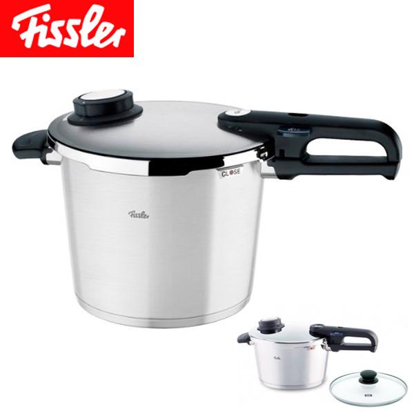 送料無料 フィスラー ( Fissler ) プレミアム プラス圧力鍋 6L ガラスフタ付き 92-06-11-511
