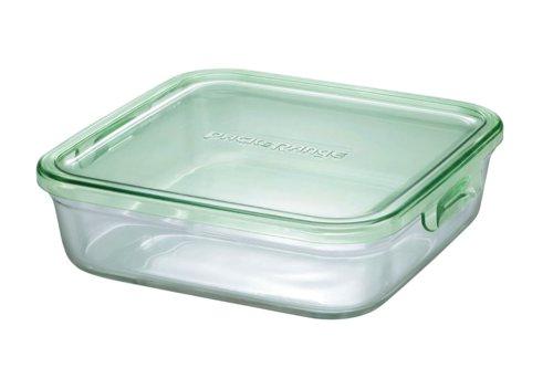 イワキガラスの耐熱ガラス 保存容器 パック レンジ イワキ グリーン K3248N-G 蔵 オーバーのアイテム取扱☆ レンジBOX 大