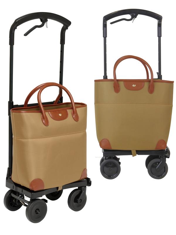 送料無料 ショッピングカート 右用 おとなりカート ブレーキ付 トートタイプ ベージュ WCC04-BE-R