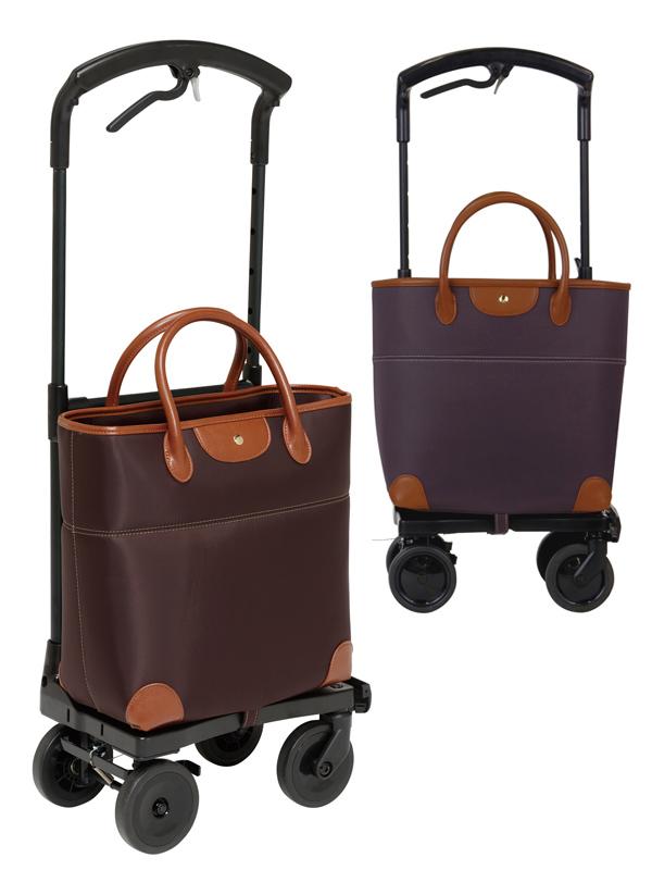 送料無料 幸和製作所 ショッピングカート 右用 おとなりカート ブレーキ付 トートタイプ ブラウン WCC04-BR-R
