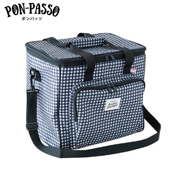 持ち運びラクラク おすすめ クーラーバッグ 送料無料 保冷バッグ M-12758 ソフトクーラーボックス 超美品再入荷品質至上 ギンガムチェック ポンパッソ