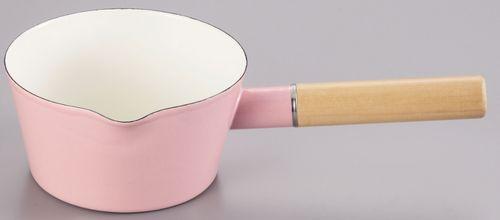 シンプルなホーローシリーズ アミィ ホーローミルクパン 価格交渉OK送料無料 HB-793 ピンク 販売期間 限定のお得なタイムセール 15cm