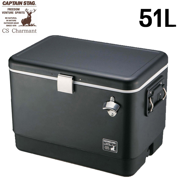 送料無料 CSブラックラベル スチールフォームクーラー51L 大容量