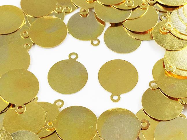 ラウンド プレート ピアス イヤリング お気に入 ランキング総合1位 チャーム メタル パーツ 丸 ハンドメイドパーツ ゴールド カン付き AP0509 100枚 アクセサリーパーツ 10mm