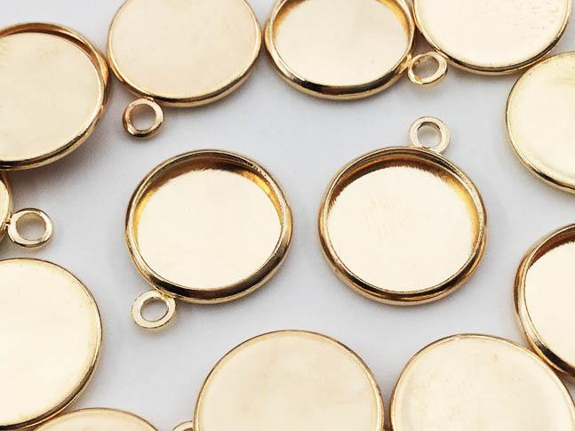 送料無料 ミール皿 丸 激安価格と即納で通信販売 まとめて ゴールド KC金 AP0538 小さめ 外径約14mm内径約12mm ハンドメイドパーツ 20枚 アクセサリーパーツ