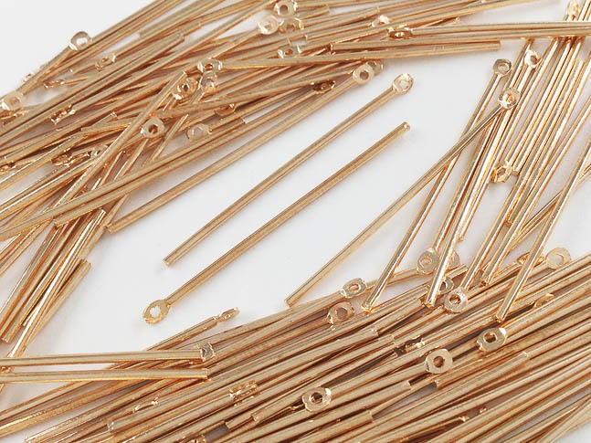 [正規販売店] メタルパーツ スティック セット まとめて メタルスティック パーツ 40mm ハンドメイドパーツ AP0651 カン付き 1着でも送料無料 KC金 100個 アクセサリーパーツ ゴールド