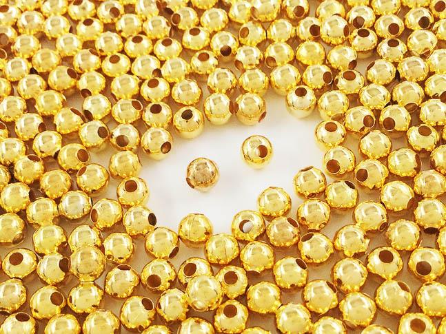 ボールパーツ ラウンド 丸型 商店 メタルビーズ 4mm 500個 評価 AP0701 ゴールド アクセサリーパーツ ハンドメイドパーツ スペーサー