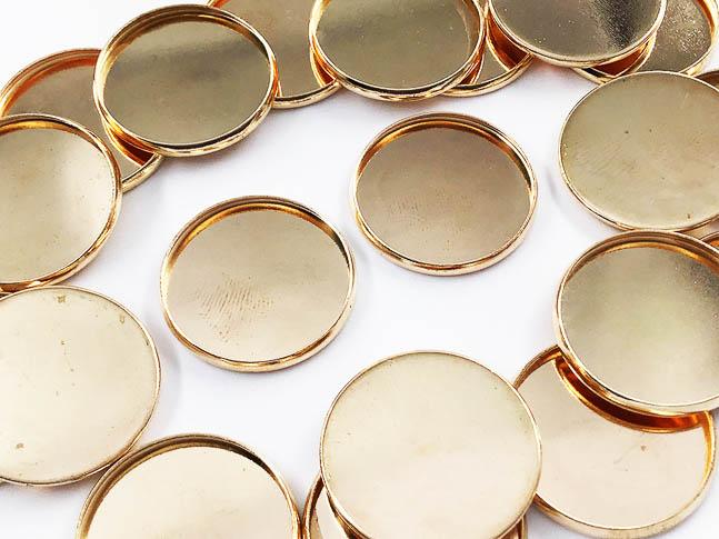 ミール皿 丸 セッティング台座 ゴールド KC金 20mm カン無し ハンドメイドパーツ 20枚 宅送 アクセサリーパーツ お得なキャンペーンを実施中 AP0787