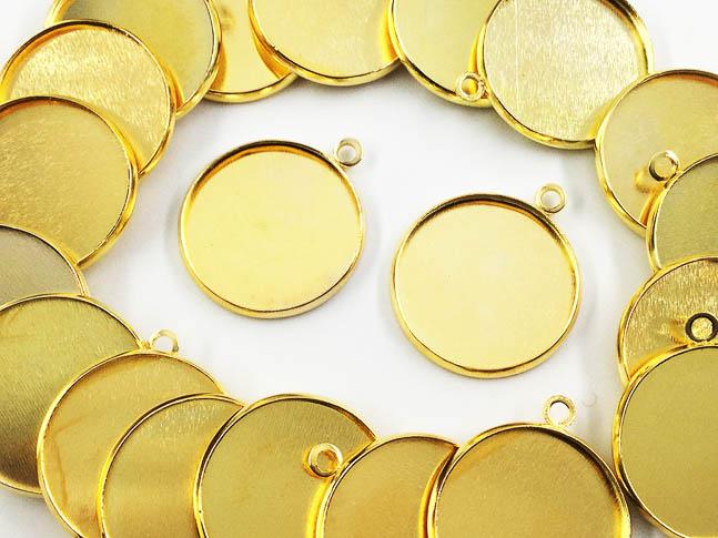 送料無料 ミール皿 丸 まとめて 国内正規総代理店アイテム ゴールド AP0479 外径約22mm内径約20mm 卸直営 ハンドメイドパーツ アクセサリーパーツ 20枚