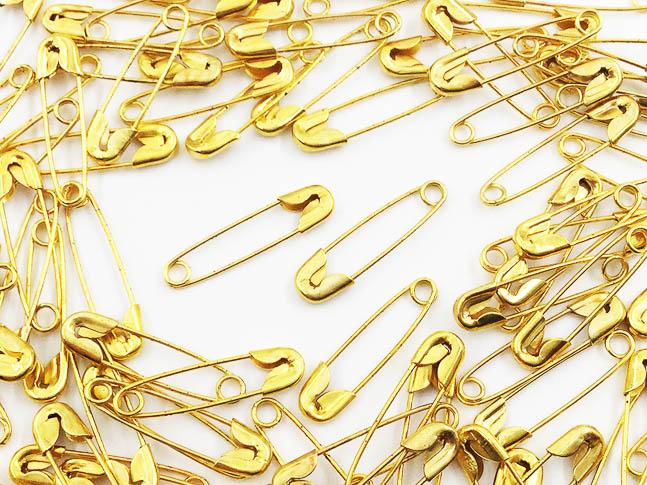 送料無料 安全ピン 22mm スナッピン まとめて アクセサリーパーツ 100個 特価キャンペーン 驚きの価格が実現 ゴールド AP0483 ハンドメイドパーツ