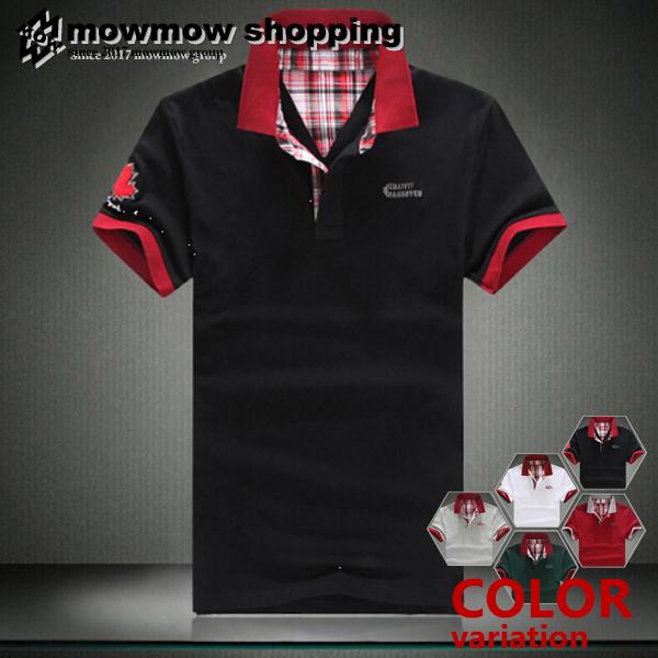 ゴルフウェア POLO ポロシャツ ゴルフシャツ メンズ 夏 アメカジ 正規取扱店 ta-pmmix0012 鹿の子 スポーツウェア 半袖 セール価格 チェック