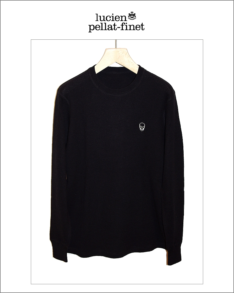 "【lucien pellat-finet""Skull-Thermal/knit""blk】"