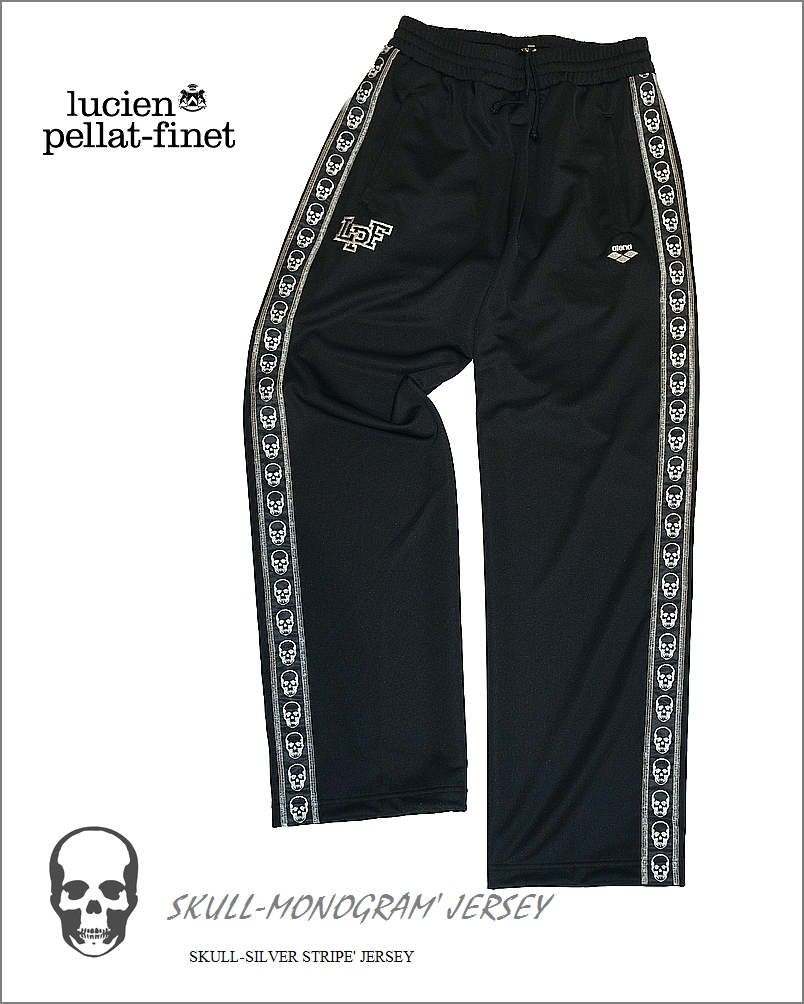 "【lucien pellat-finet""Arena‐Skull""Pants/black&silver】"