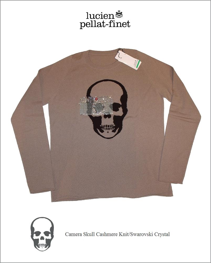 """【lucien pellat-finet""""Camera-Skull/CashmereKnit】"""