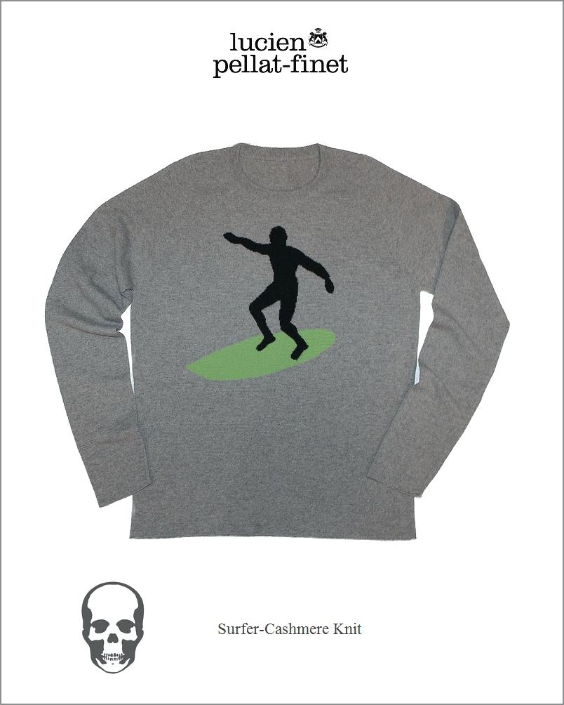 "【lucien pellat-finet""Surfer/Cashmere/Knit""Gray】"