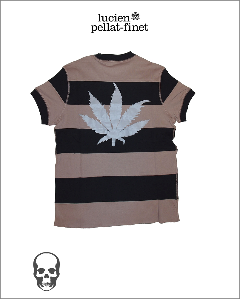 【全品P2倍/最大10,000円OFFクーポン配布中】ルシアンペラフィネ リーフ フットボール ボーダー Tシャツlucien pellat-finet Football Tshirt Leaf