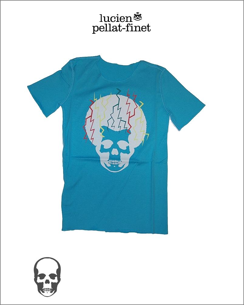 【全品P2倍/最大10,000円OFFクーポン配布中】ルシアンペラフィネ アフロ スカル Tシャツ レディス 女性用lucien pellat-finet Skull Tshirt WOMAN