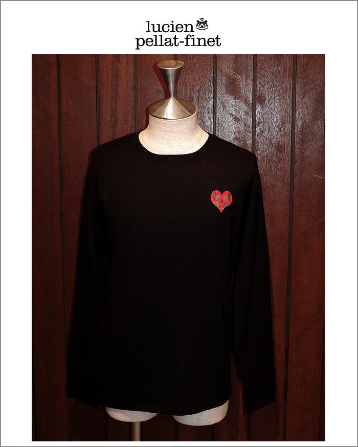 """【ルシアンペラフィネ""""ハートスカル・カシミヤニット】【lucien pellat-finet""""Heart.Skull/Cashmere-knit""""Black】"""