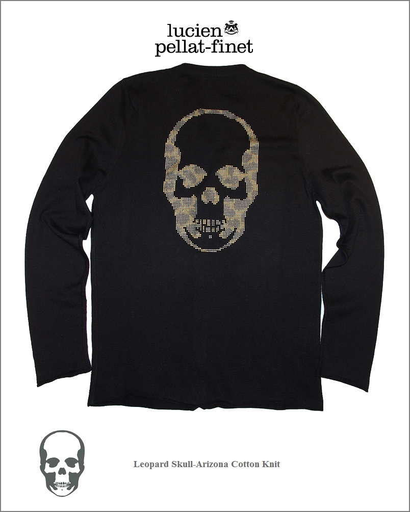 "【lucien pellat-finet""Leopard-Skull/Cardigan】【ルシアンペラフィネ""スワロフスキースカル""カーディガン】"