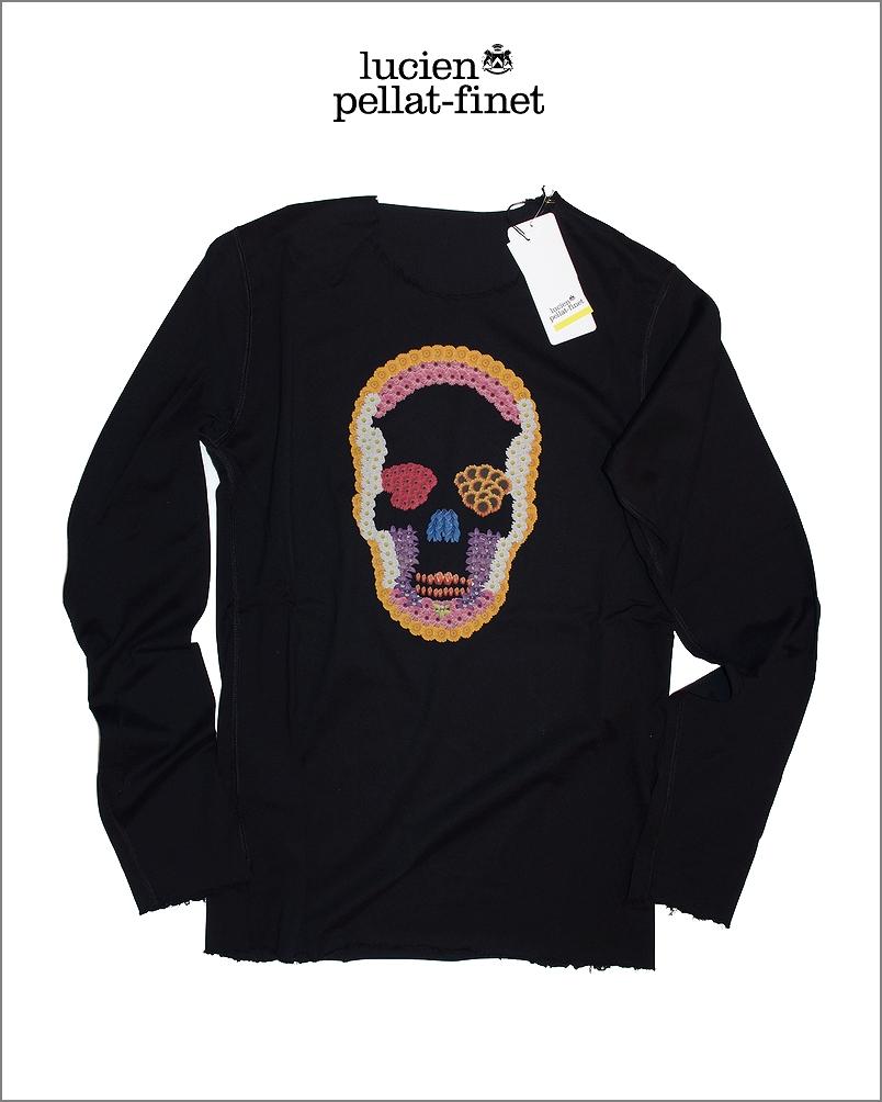 【全品P2倍/最大10,000円OFFクーポン配布中】ルシアンぺラフィネ フラワー スカル デストロイド 花プリント Tシャツlucien pellat-finet Flower Skull Tshirt
