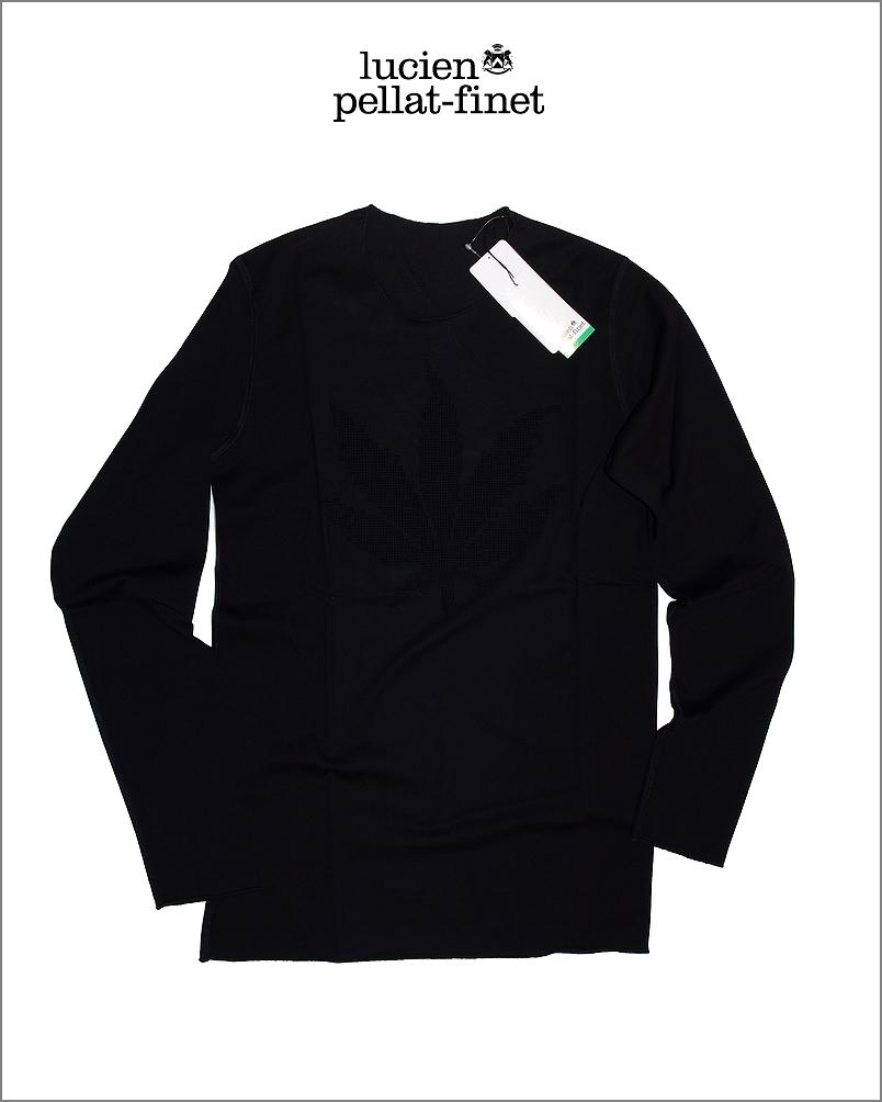 【全品P2倍/最大10,000円OFFクーポン配布中】ルシアンペラフィネ リーフ ピクセル Tシャツlucien pellat-finet PixelLeaf Tshirt Black
